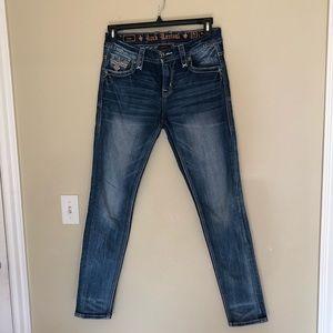 Rock Revival Lam Easy Skinny Jeans Size 27 Women.
